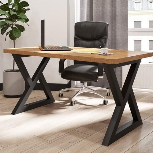 Стол письменный Спай 120 см коричневый Металл Дизайн
