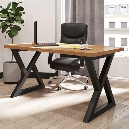 Стол письменный Спай 160 см коричневый Металл Дизайн