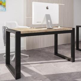 Стол письменный Спот 136см коричневый Металл Дизайн