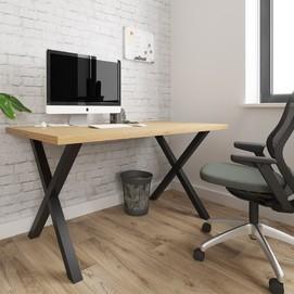 Стол письменный Тайм 120см коричневый Металл Дизайн