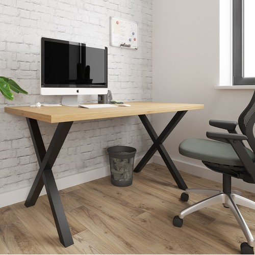 Стол письменный Тайм 160см коричневый Металл Дизайн