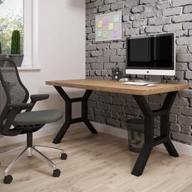 Стол письменный Хенк 120см коричневый Металл Дизайн