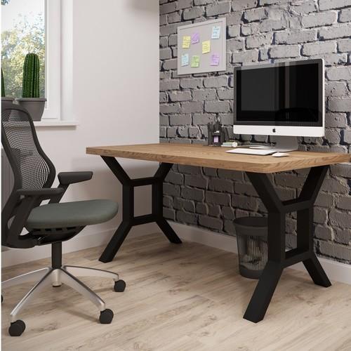 Стол письменный Хенк 160см коричневый Металл Дизайн