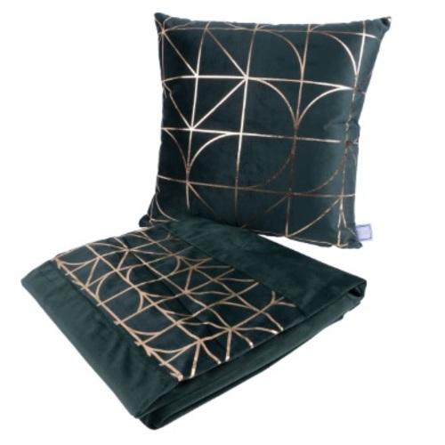 Набор подушка+плед Prisma 9RYD9-GRN зеленый Kayoom
