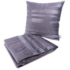 Набор подушка+плед Prisma 1949-01 графит Kayoom
