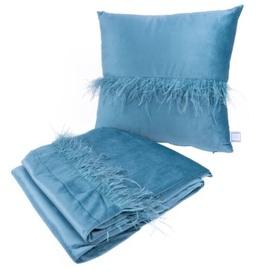 Набор подушка+плед Palmira 225 UQAT2-AQU голубой Kayoom