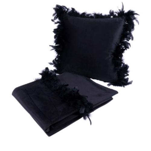 Набор подушка+плед Palmira 125 HWXT1-BLK черный Kayoom