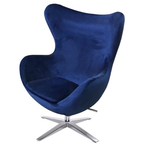 Кресло Egg синий велюр Primel