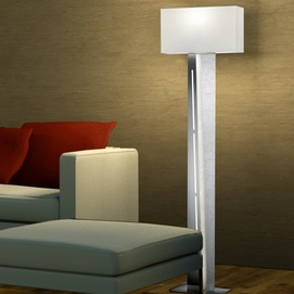 Лампа напольная  NESTOR – 475210289 серебро Trio