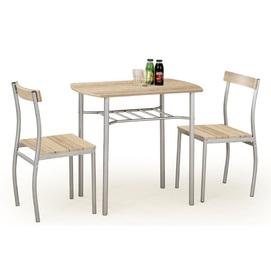 Набор LANCE стол+2стула бежевый дуб Halmar