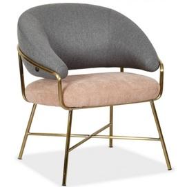 Кресло Адель серый+розовый Verde 2020
