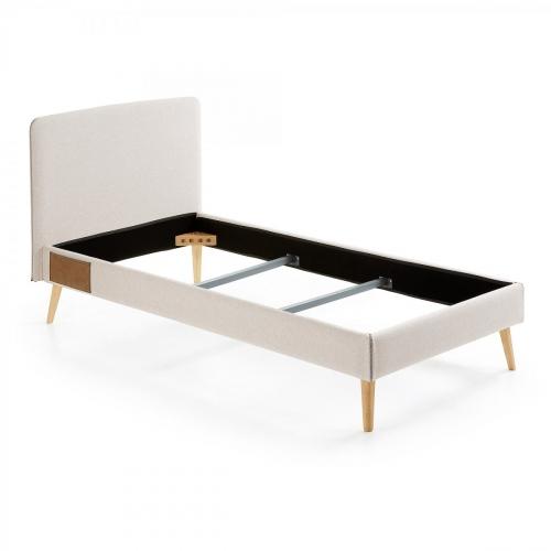 Кровать LYDIA 90x190см D037VA12 бежевый Laforma
