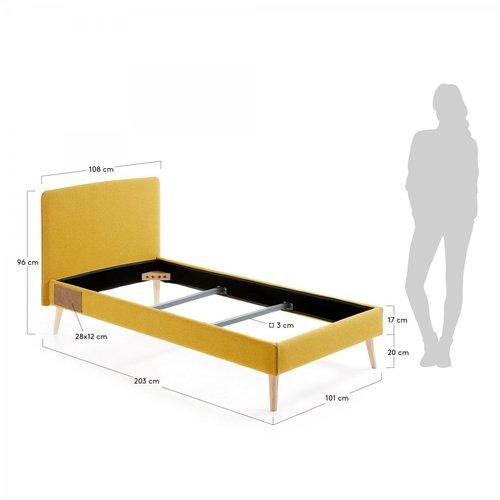 Кровать LYDIA 90x190см D037VA81 желтый Laforma