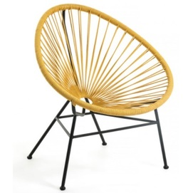 Кресло Samantha CC1216J31 желтый Laforma