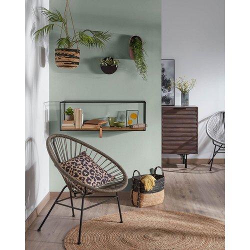 Кресло Samantha CC1216J10 серый Laforma