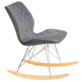 Кресло качалка NOLAN 11060 серый велюр Thexata Rudens 2020
