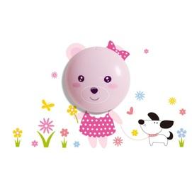 Лампа детская BEAR ML060 розовый MiLAGRO