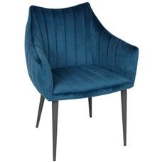 Кресло BONN синий велюр Kolin