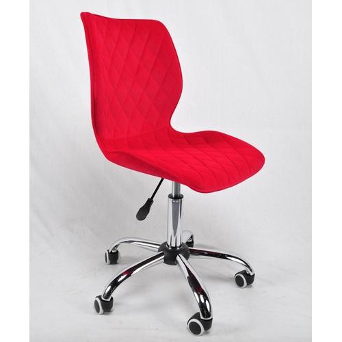 Стул офисный Toni 12030 красный велюр Thexata Rudens