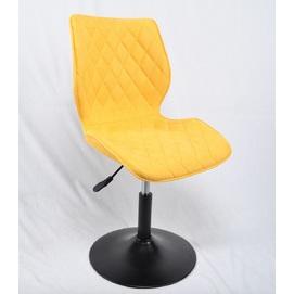 Стул полубарный Toni 12010 желтая ткань Thexata Rudens