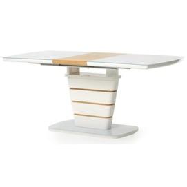 Стол обеденный раскладной TM-59 белый + дуб Verde
