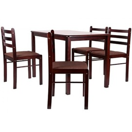 Комплект Брауни (стол+4 стула) коричневый+латте 521379 Famm 2021