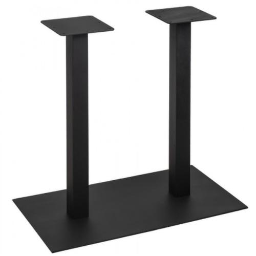 База для барного стола Quadro Double черный Lovko