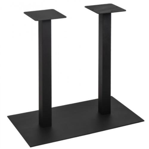 База для барного стола Quadro Double 90см черный Lovko