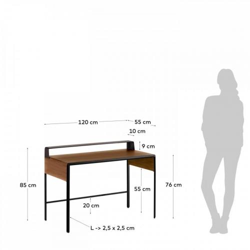 Стол письменный Nadyria CC1827M46 коричневый Laforma