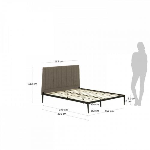 Кровать Nelly D189PK03 серый Laforma