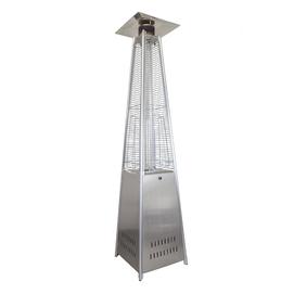 Уличный газовый обогреватель серебристый GLV200401P SS