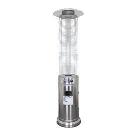 Уличный газовый обогреватель серебристый GLV200404T SS