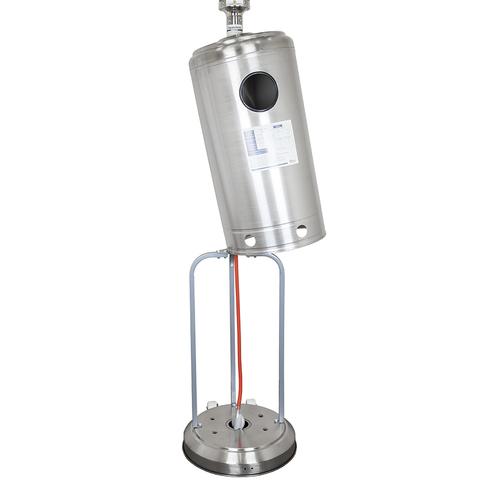 Уличный газовый обогреватель серебристый GLV200405M SS