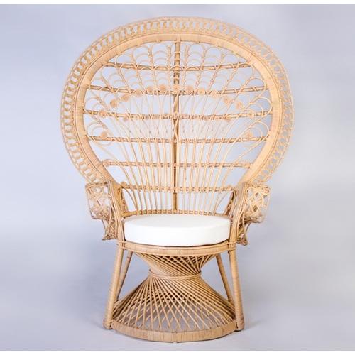 Кресло Павлин CRUZO натуральный ротанг светло-медовый