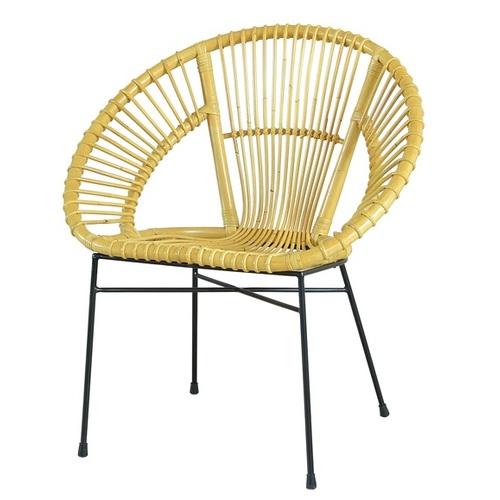 Плетеный стул Луна CRUZO натуральный ротанг медовый
