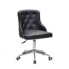 Стул офисный theXATA-2021 Olimp 13288 черный кожзам на хромированых ножках с колесиками