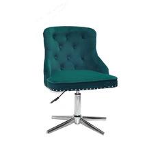 Стул офисный theXATA-2021 Olimp 13188 зеленый бархат на хромированных ножках