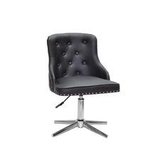 Стул офисный theXATA-2021 Olimp 13185 черный кожзам на хромированных ножках
