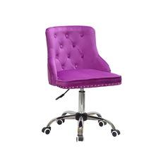 Стул офисный theXATA-2021 Olimp 13196 сиреневый бархат на хромированых ножках с колесиками