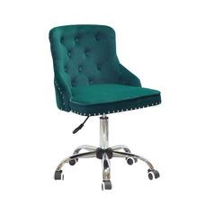 Стул офисный theXATA-2021 Olimp 13198 сиреневый бархат на хромированых ножках с колесиками