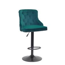 Стул барный theXATA-2021 Olimp 13301 зеленый бархат на черной ноге