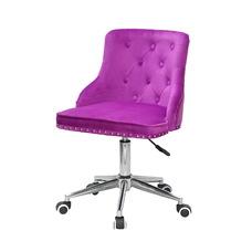 Стул офисный theXATA-2021 Olimp 13289 сиреневый бархат на хромированых ножках с колесиками