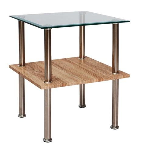 Журнальный столик ANA прозрачный / Хром 50X50X55 Signal