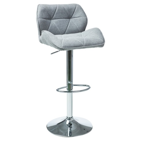 Барный стул C122 серая ткань Signal