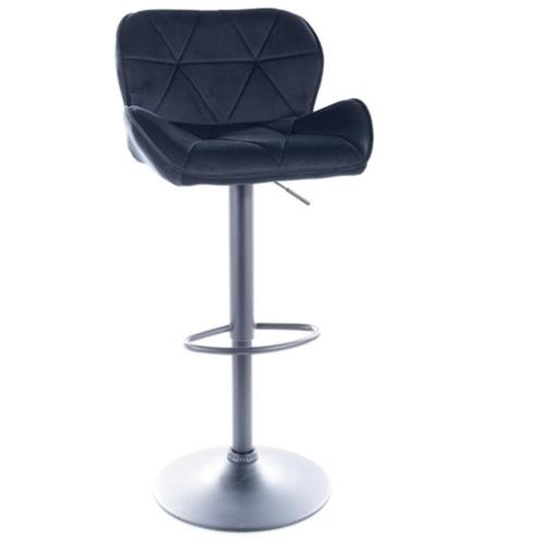 Барный стул C122 VELVET черный каркас / ЧЕРНЫЙ Signal