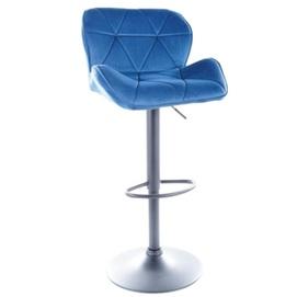 Барный стул C122 VELVET черный каркас / СИНИЙ Signal