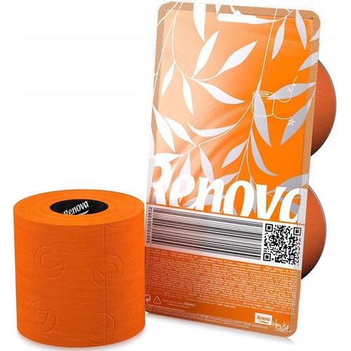 Renova туалетная бумага   оранжевая 2 шт. 10832