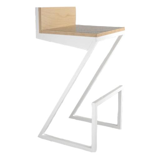 Барный стул ZOE ноги белые К104 Def Design