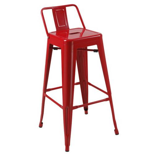 Кресло барное Tolix MC-012P красное Primel