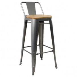 Кресло барное Tolix MC-012КG сталь+дерево Primel